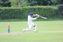 ... and plays a glorious cover drive