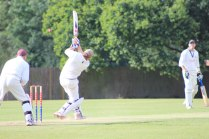 Dom launches a hefty six as he leads Coleshill towards victory